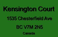 Kensington Court 1535 CHESTERFIELD V7M 2N5
