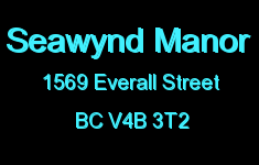 Seawynd Manor 1569 EVERALL V4B 3T2
