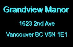 Grandview Manor 1623 2ND V5N 1E1