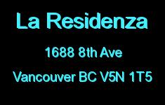 La Residenza 1688 8TH V5N 1T5