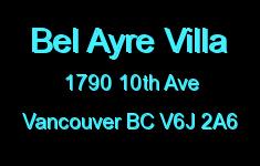 Bel Ayre Villa 1790 10TH V6J 2A6