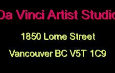 Da Vinci Artist Studio 1850 LORNE V5T 1C9