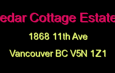 Cedar Cottage Estates 1868 11TH V5N 1Z1