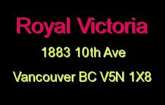 Royal Victoria 1883 10TH V5N 1X8