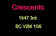 Crescents 1947 3RD V2M 1G6