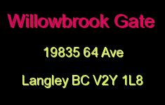 Willowbrook Gate 19835 64 V2Y 1L8