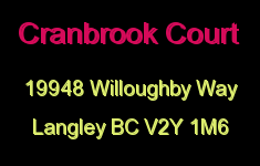 Cranbrook Court 19948 WILLOUGHBY V2Y 1M6