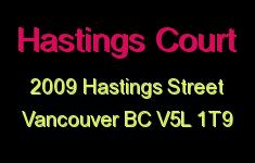 Hastings Court 2009 HASTINGS V5L 1T9