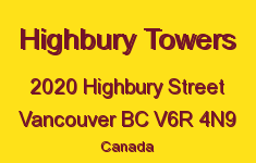 Highbury Towers 2020 HIGHBURY V6R 4N9