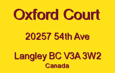 Oxford Court 20257 54TH V3A 3W2