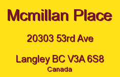 Mcmillan Place 20303 53RD V3A 6S8