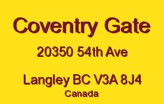 Coventry Gate 20350 54TH V3A 8J4
