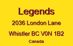 Legends 2036 LONDON V0N 1B2