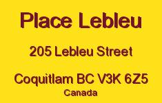 Place Lebleu 205 LEBLEU V3K 6Z5