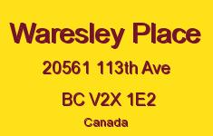 Waresley Place 20561 113TH V2X 1E2