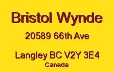 Bristol Wynde 20589 66TH V2Y 3E4