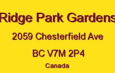Ridge Park Gardens 2059 CHESTERFIELD V7M 2P4