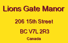 Lions Gate Manor 206 15TH V7L 2R3
