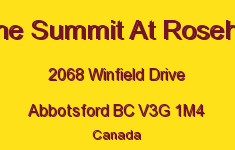 The Summit At Rosehill 2068 WINFIELD V3G 1M4