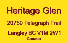 Heritage Glen 20750 TELEGRAPH V1M 2W1