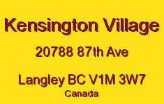 Kensington Village 20788 87TH V1M 3W7
