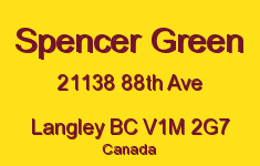 Spencer Green 21138 88TH V1M 2G7