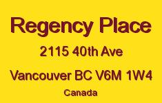 Regency Place 2115 40TH V6M 1W4