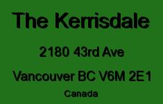The Kerrisdale 2180 43RD V6M 2E1