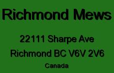 Richmond Mews 22111 SHARPE V6V 2V6