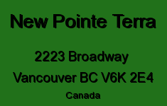New Pointe Terra 2223 BROADWAY V6K 2E4