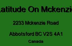 Latitude On Mckenzie 2233 MCKENZIE V2S 4A1