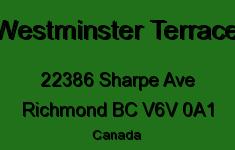 Westminster Terrace 22386 SHARPE V6V 0A1