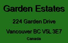 Garden Estates 224 GARDEN V5L 3E7
