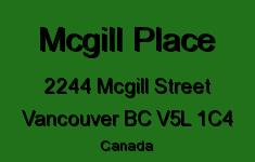 Mcgill Place 2244 MCGILL V5L 1C4