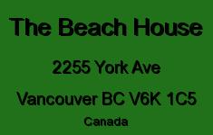 The Beach House 2255 YORK V6K 1C5