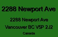 2288 Newport Ave 2288 NEWPORT V5P 2J2