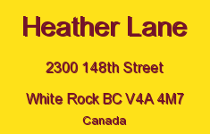 Heather Lane 2300 148TH V4A 4M7