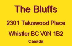 The Bluffs 2301 TALUSWOOD V0N 1B2
