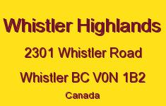 Whistler Highlands 2301 WHISTLER V0N 1B2