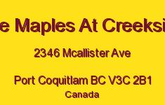 The Maples At Creekside 2346 MCALLISTER V3C 2B1