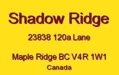 Shadow Ridge 23838 120A V4R 1W1