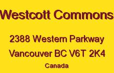 Westcott Commons 2388 WESTERN V6T 2K4