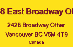 2428 East Broadway Other 2428 BROADWAY V5M 4T9