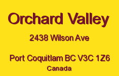 Orchard Valley 2438 WILSON V3C 1Z6