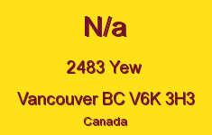 N/a 2483 YEW V6K 3H3