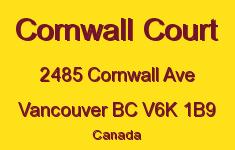 Cornwall Court 2485 CORNWALL V6K 1B9
