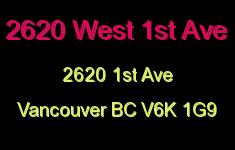 2620 West 1st Ave 2620 1ST V6K 1G9