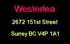 Westerlea 2672 151ST V4P 1A1