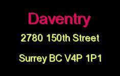 Daventry 2780 150TH V4P 1P1