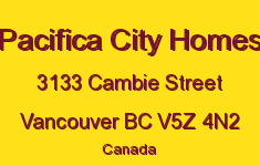 Pacifica City Homes 3133 CAMBIE V5Z 4N2
